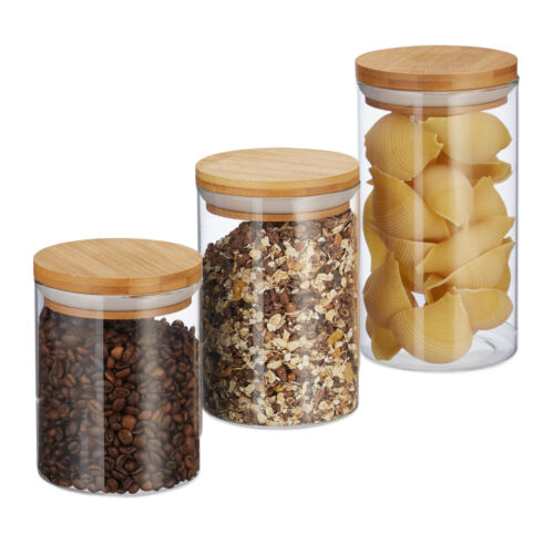 Vorratsdosen Glas Vorratsgläser Glasbehälter Müselbehälter Nudeldosen Pastadose