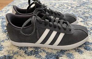 Zapatillas Adidas Neo courtset Gris Gamuza Zapatos Talla 6.5 | eBay