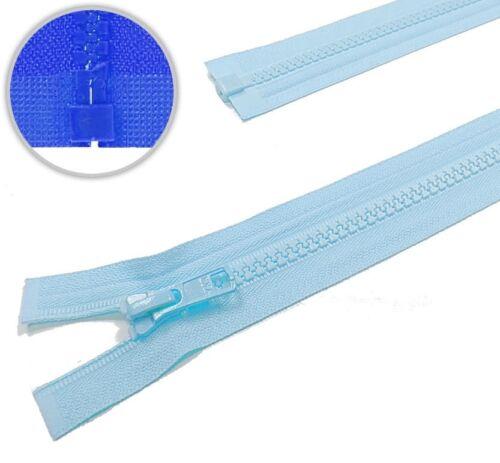 542 YKK Vislon Kunststoff Reißverschluss teilbar hellblau