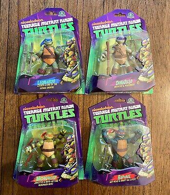 Tmnt Ninja Turtles Figures Lot Complete Set Of 4 New Moc 2012 Leo