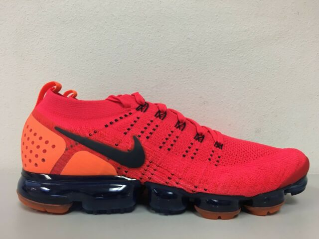 73c151b114da Nike Air Vapormax Flyknit 2 Red Orbit Obsidian Mens Size 14 AR5406 ...