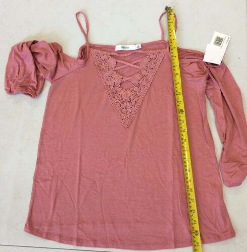 Rrp Justfab Top Dk9qh Size £32 Cold Lace Shoulder S zpazq