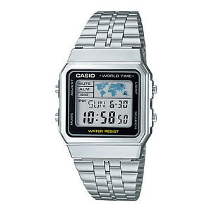 CASIO-Vintage-Series-Retro-World-Time-Silver-Classic-Watch-A500WA-1DF