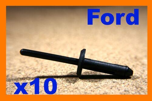 For Ford 10 black nylon plastic blind pop rivets fasteners 5mm hole