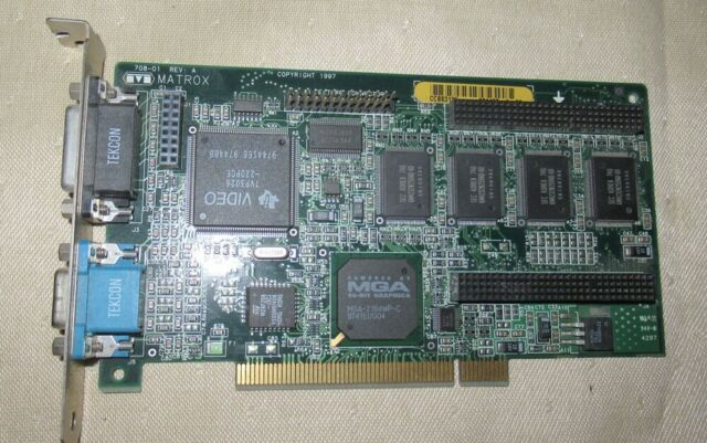 PCI Video Card Matrox 708-01  MIL2P//8//DELL2  00055975 A00 DVI VGA MGA