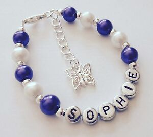 Girls-personalised-purple-butterfly-charm-bracelet-jewellery-gift-any-name