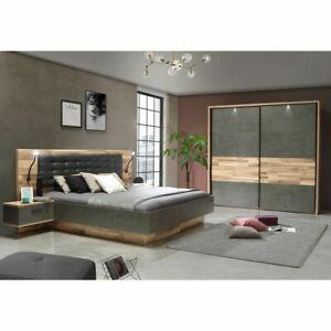 Schlafzimmer 1 Ricciano Komplett Set In Stabeiche Betonoptik Und Grau 4 Teilig Ebay