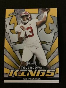 TUA-TAGOVAILOA-2020-Leaf-Touchdown-Kings-Gold-Parallel-Rookie-Card-ROY-Alabama