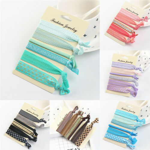 Elastic Mixed Hair Ties Knot Ponytail Holder Hairband Bracelets Rubber Band ME