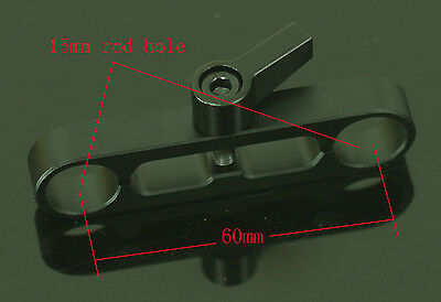 New Professional 2 holes 15mm rod Clamp For DSLR Rig System 5D2 5D3 Rail tripod