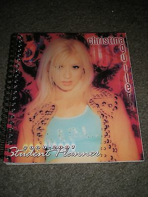 CHRISTINA AGUILERA - UNUSED 2000-2001 STUDENT PLANNER - ONLY ONE ON THE INTERNET