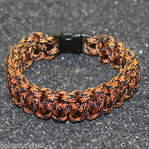 550 lb Type III Paracord Survival Rope Bracelet Made in the USA Beige /& White