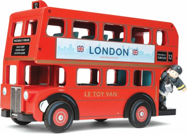Le Toy Van TRADITIONAL TOYS LONDON BUS WITH DRIVER Creative Toy BNIP