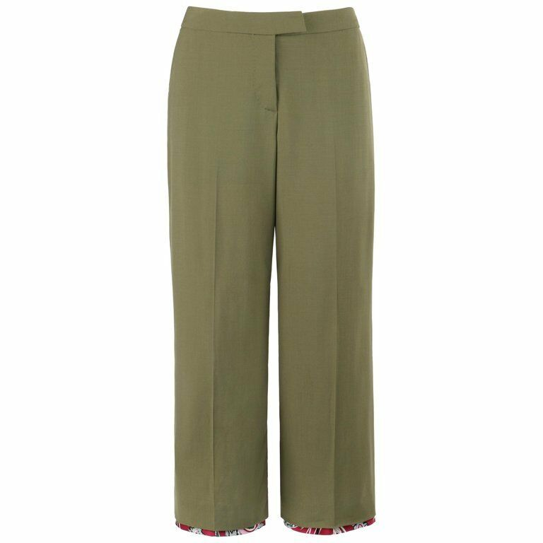 ALEXANDER McQUEEN S S 2001  Voss  Olive Green Cropped Capri Trousers Pants