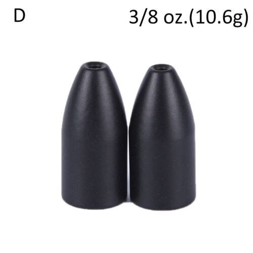 2x Black Tungsten Bullet Flipping Weight Fishing Sinker Lure Fishing AccessorTPA