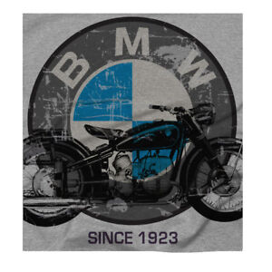 Men S Bmw Motorcycle Retro Motorrad German Engineering Print Grey T Shirt Ebay
