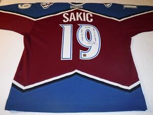 purchase cheap 91c5e b76d6 Details about Joe Sakic Autographed Colorado Avalanche 500th Goal-Limited  Edition #9