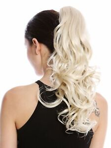 Hair-Piece-Ponytail-Long-Lightweight-Curly-Curly-Platinum-Light-Blonde-45-CM