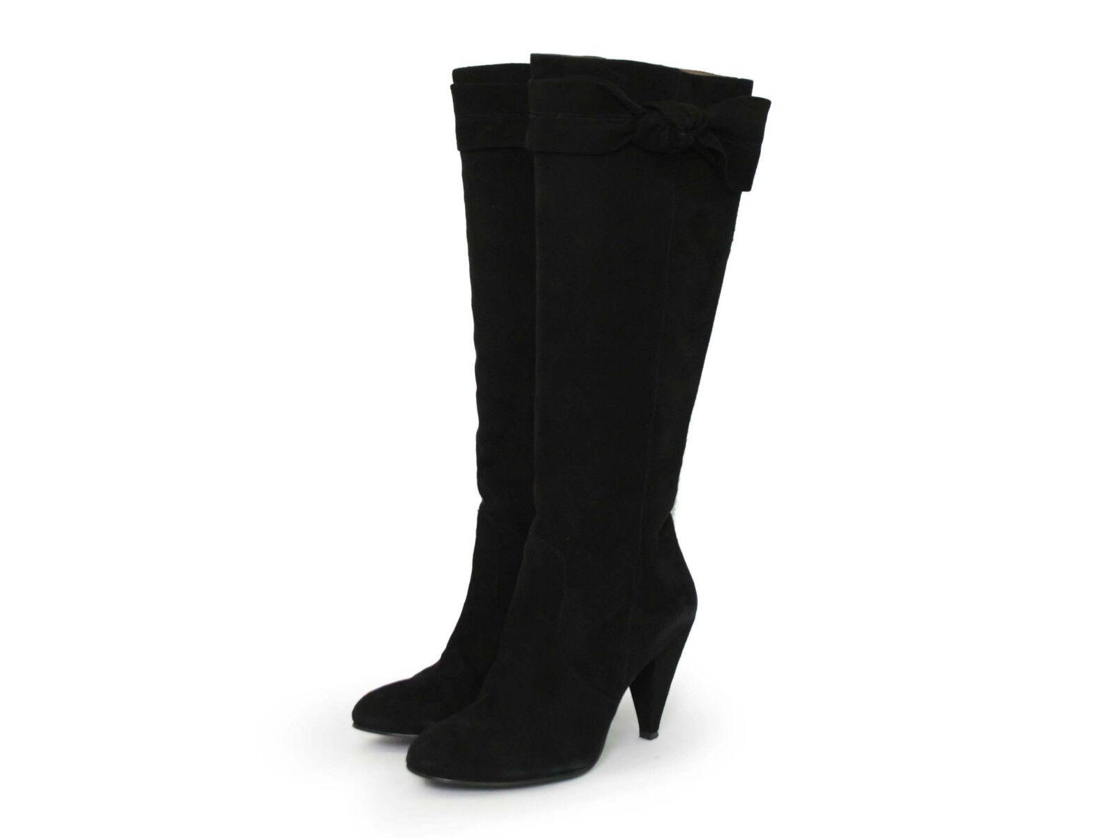 Alexandra Collezione Gr.39 Stiefel High Heels Veloursleder Gr.39 Collezione Schwarz Feminin TOP e374f4
