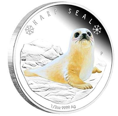 2017 Polar Babies Harp Seal Tuvalu 1//2oz Silver Proof 50c Half Dollar Coin