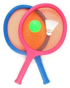 Contemplatif Cadeau Depot ® Badminton Set Avec 2 Raquettes Balle & Birdie Sport Tennis Raquette Beach-afficher Le Titre D'origine Produire Un Effet Vers Une Vision Claire