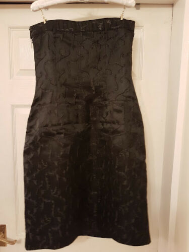 Uk6 Black Rohmiracle Bnwt Strapless Satin Rohmir 8 Rrp£216 Designer Dress 8Ax7wPq