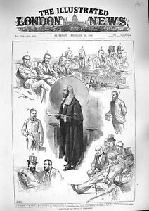 Original-Old-Antique-Print-1888-Parliament-Balfour-Manners-Hamilton-Churchill