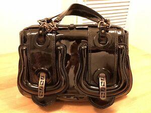a6cdc5e0fa2e Fendi B Bag Black Patent Gueniue Leather Bucket Bag! Used! Only £419 ...
