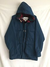 Vintage Woolrich Parka Jacket Flannel Lined USA Made Men's Medium