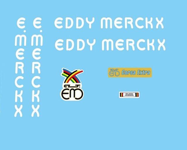 Eddy Merckx Vintage Cycle Bike Frame Decals Stickers