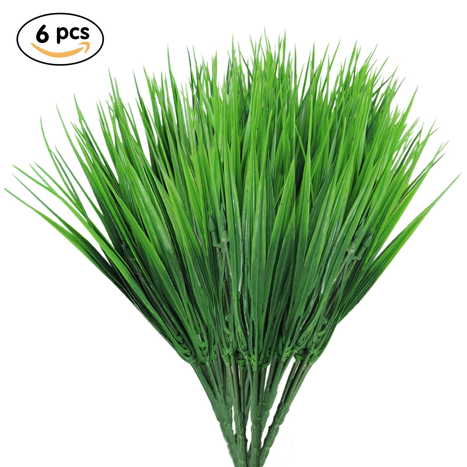 Artificial Plants Wheat Grass Fake Plastic Greenery Shrubs Wheat Grass Bushes...