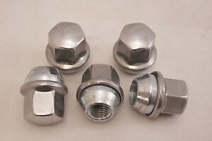 5-New-Dodge-Charger-Factory-OEM-Stainless-Polished-Lug-Nuts-14x1-5-6509873AA