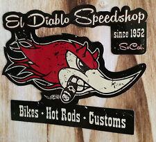 "Muerte ""Diablo Speedshop"" Horsepower Hot Rod Custom Aufkleber / Sticker US Car"