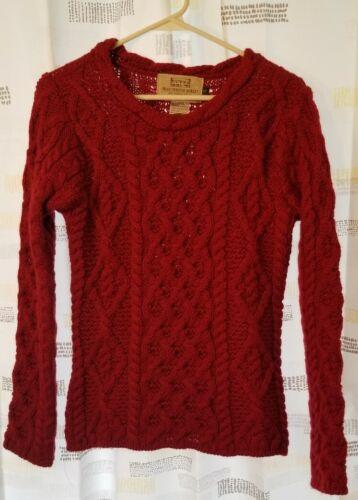Aran sweater market 100% virgin wool
