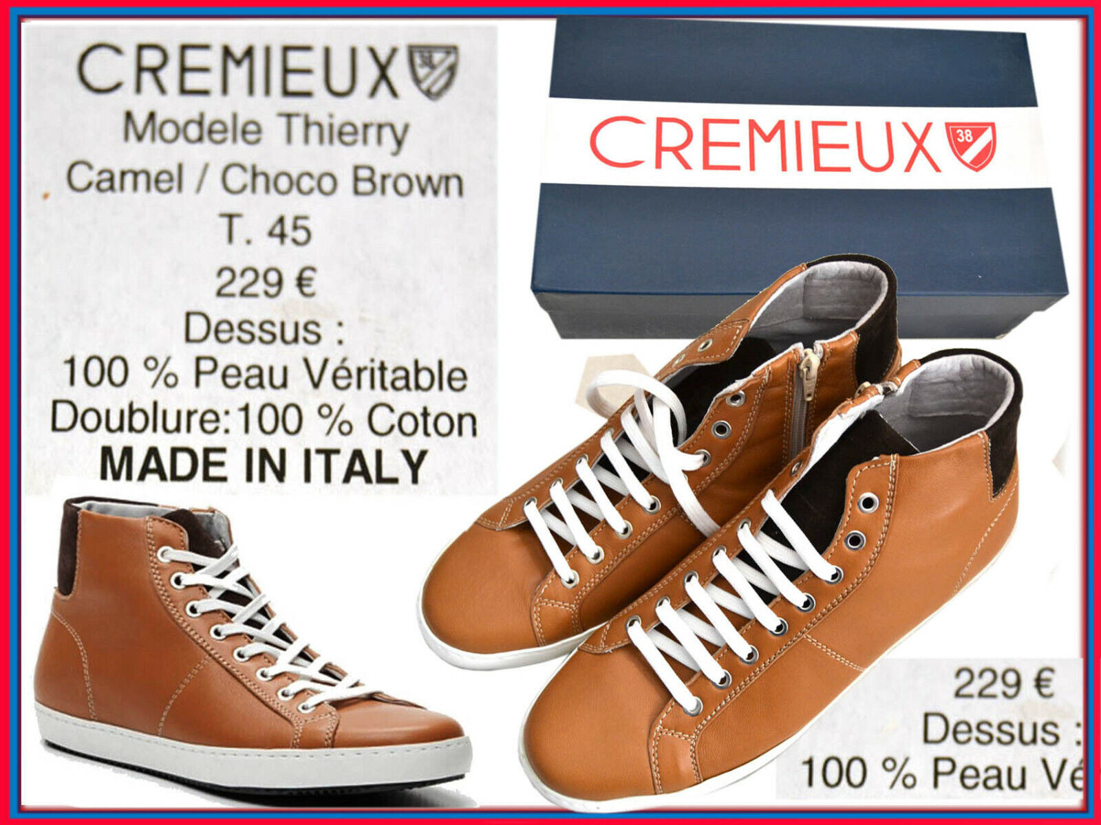 CREMIEUX Made  Botín For Man 45 US UNTIL - 80 % CX01 TOD3
