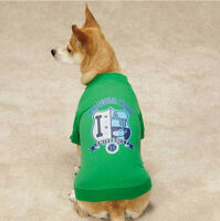 Zack & Zoey Alpha Dog University Dog T-shirt Tee Green Pet Top Clothing