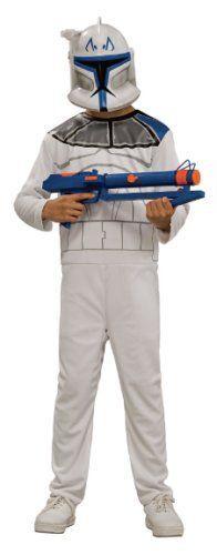 Star Wars Clone Trooper Captain Rex Costume Jumpsuit /& Mask Size 8-10