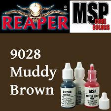 MUDDY BROWN 9028 - MSP core 15ml 1/2oz paint pot peinture REAPER MINIATURE