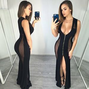 Women-Summer-Sleeveless-Mesh-Sheer-Bodycon-Evening-Party-Cocktail-Long-Dress