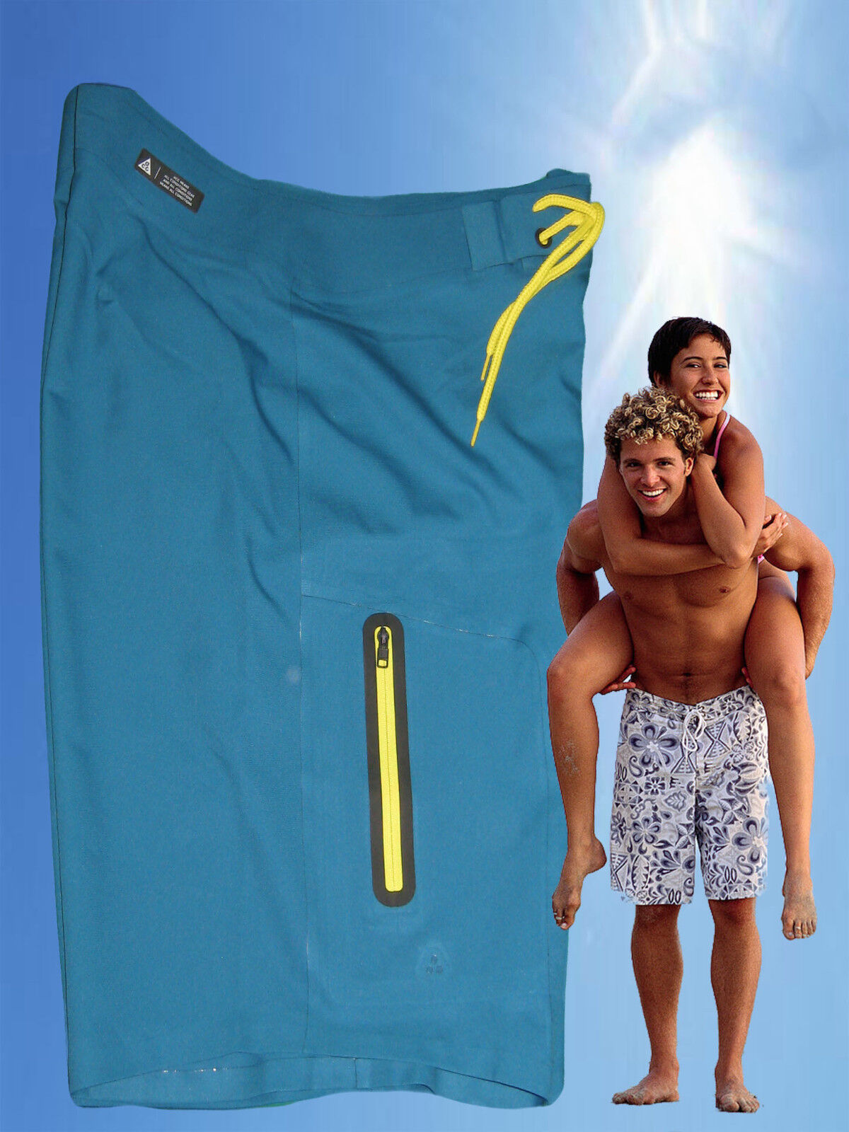 NEW NIKE ACG Laser Cut Heat Sealed Active Beach Water Sports Board Shorts M