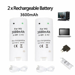 2-Two-3600mAh-Battery-Charger-Charging-Dock-Station-For-Wii-Remote-Controller
