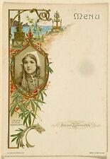 ''Jeune fille d'Ouessant '' - '' Menu : coll. Lefèvre-Utile '' - vers 1900.