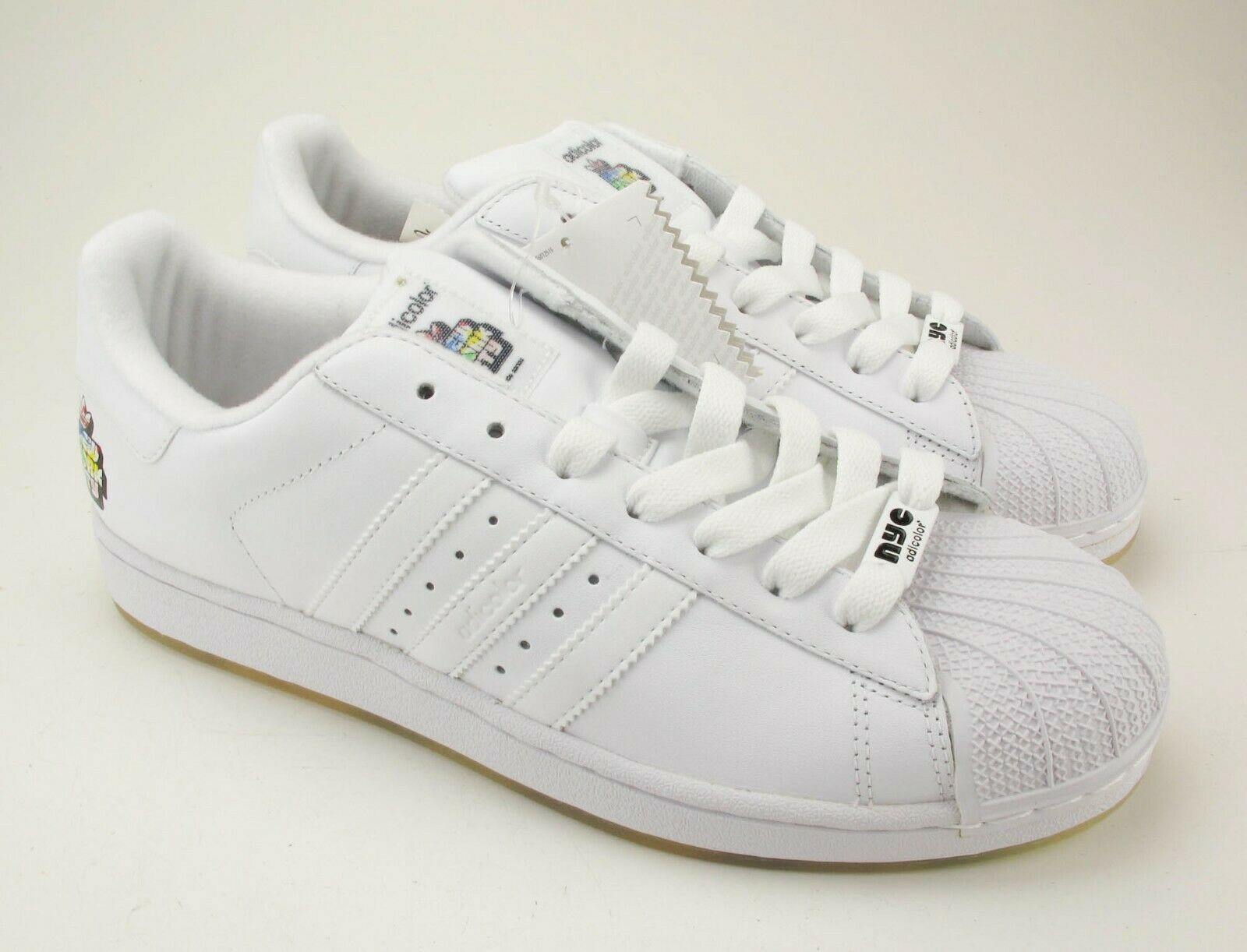 New Adidas Adicolor Limited Edition White W6 Superstar II ( 2 ) New York City 11