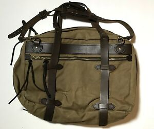 Details About Rare Filson Pullman Vintage Olive Rugged Twill Carry On Bag Suitcase