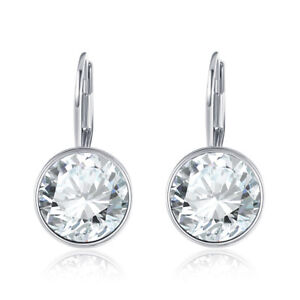 18K-White-Gold-Plated-Petite-Round-Austrian-Crystal-Drop-Earrings-in-Clear