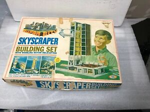 Vintage-Ideal-Toys-SKYSCRAPER-CONSTRUCTION-SET-Building-Toy-w-Box