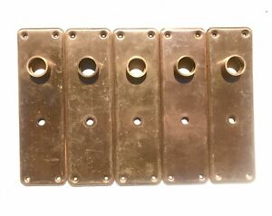 A25-Antique-DoorKnob-Back-Plate-7-1-4-034-x-2-1-8-034-Key-Hole-Pressed-Metal-Backplate