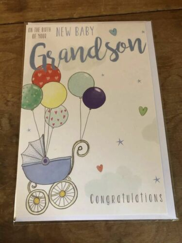 new baby granddaughter card and new baby grandson card brand new /& sealed