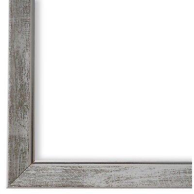Bilderrahmen Grün Silber Vintage Retro Holz Frosinone 1,8 NEU alle Größen