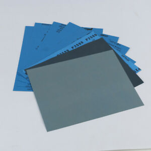 1PC 9''x11'' Wet dry Sandpaper Sheets Polish Tool 800/1000/2000/5000/7000 Grit
